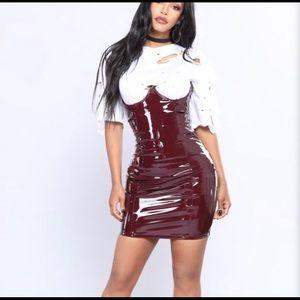 Fashionnova Latex Skirt